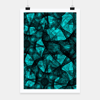 Thumbnail image of Fractal Art Turquoise G52 Poster, Live Heroes