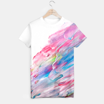 Imagen en miniatura de Colourful Oil Paint Fuchsia T-shirt, Live Heroes
