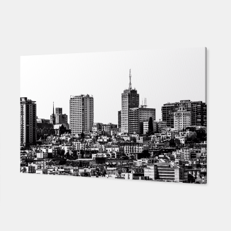 Miniaturka city view at San Francisco in black and white Canvas, Live Heroes