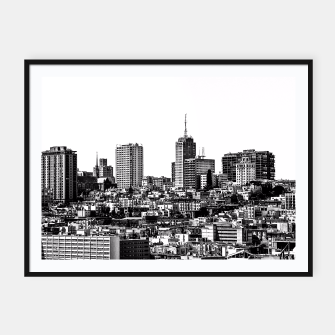 Thumbnail image of city view at San Francisco in black and white Framed poster, Live Heroes