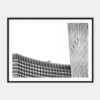 Thumbnail image of modern style buildings at Las Vegas, USA in black and white Framed poster, Live Heroes