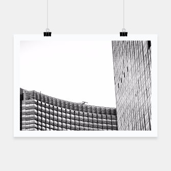 Thumbnail image of modern style buildings at Las Vegas, USA in black and white Poster, Live Heroes