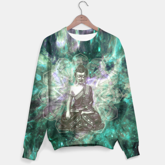 Miniatur Buddha Of the Universe Mandala Energy Sweatshirt, Live Heroes