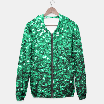 Miniaturka Beautiful Emerald Green  sparkles Hoodie, Live Heroes