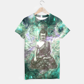 Buddha Of the Universe Mandala Energy T-Shirt Bild der Miniatur