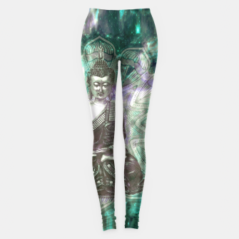 Buddha Of the Universe Mandala Energy Leggings Bild der Miniatur