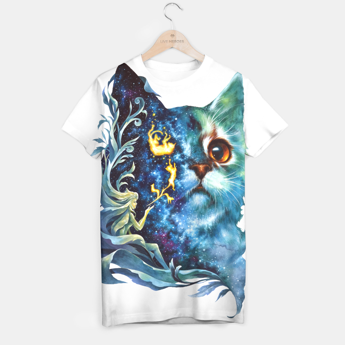 Image of cat .4 T-shirt - Live Heroes
