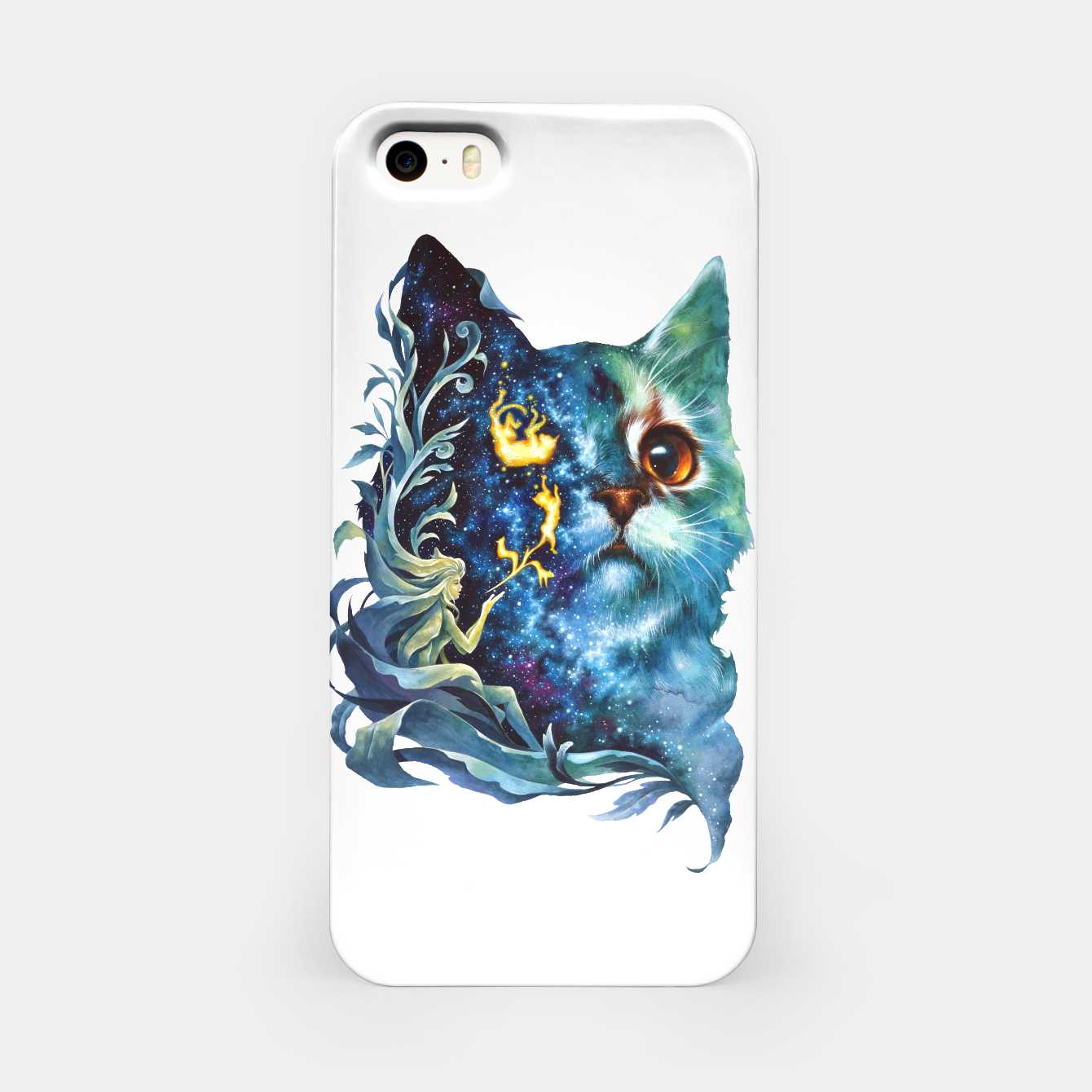 Image of cat .4 iPhone Case - Live Heroes