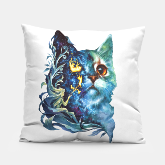 Thumbnail image of cat .4 Pillow, Live Heroes