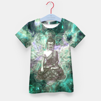 Buddha Of the Universe Mandala Energy T-Shirt für Kinder Bild der Miniatur