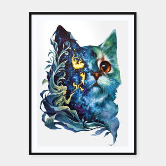 Thumbnail image of cat .4 Framed poster, Live Heroes