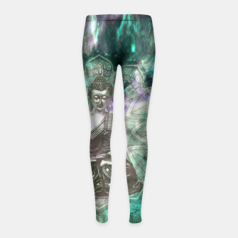 Buddha Of the Universe Mandala Energy Kinder-Leggins Bild der Miniatur