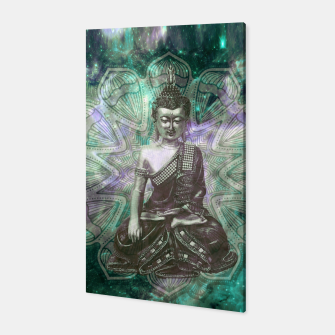 Buddha Of the Universe Mandala Energy Canvas Bild der Miniatur