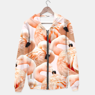 Thumbnail image of Flamingo Blush Hoodie, Live Heroes
