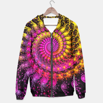 Miniatur Abstract Apophysis Fractal Spiral Painting Pink Yellow Kapuzenpullover, Live Heroes