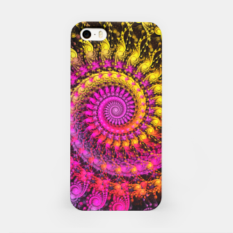 Abstract Apophysis Fractal Spiral Painting Pink Yellow iPhone-Hülle Bild der Miniatur