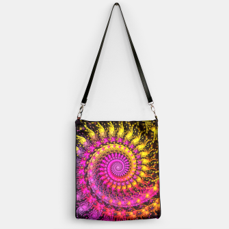 Miniatur Abstract Apophysis Fractal Spiral Painting Pink Yellow Handtasche, Live Heroes