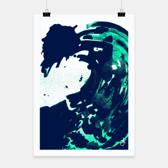 Thumbnail image of Pantone green and Blue Burns on a wave Poster, Live Heroes