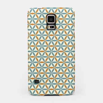 Miniatur Flower Of Life endless Pattern brown blue beige Handyhülle für Samsung, Live Heroes