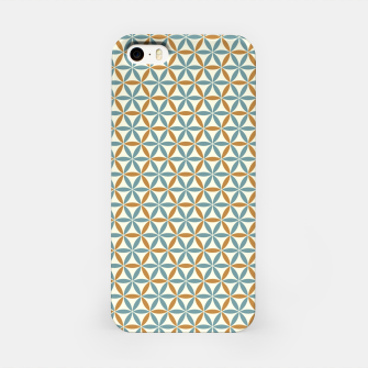 Miniatur Flower Of Life endless Pattern brown blue beige iPhone-Hülle, Live Heroes