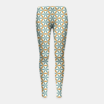 Miniatur Flower Of Life endless Pattern brown blue beige Kinder-Leggins, Live Heroes