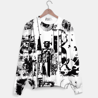 Miniatur Black and White ART Collage Sweatshirt, Live Heroes