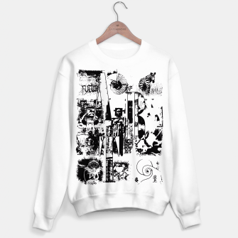 Miniatur Black and White ART Collage Sweatshirt regulär, Live Heroes