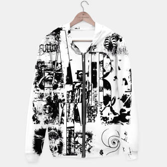 Miniatur Black and White ART Collage Kapuzenpullover, Live Heroes