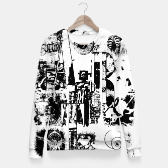 Miniatur Black and White ART Collage Taillierte Sweatshirt, Live Heroes