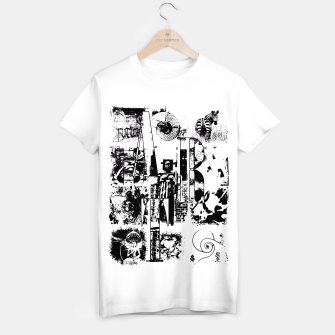 Miniatur Black and White ART Collage T-Shirt regulär, Live Heroes