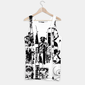 Miniatur Black and White ART Collage Muskelshirt , Live Heroes