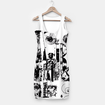 Miniatur Black and White ART Collage Kleid, Live Heroes