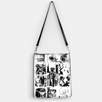 Miniatur Black and White ART Collage Handtasche, Live Heroes