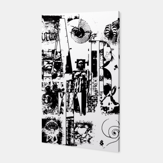 Miniatur Black and White ART Collage Canvas, Live Heroes