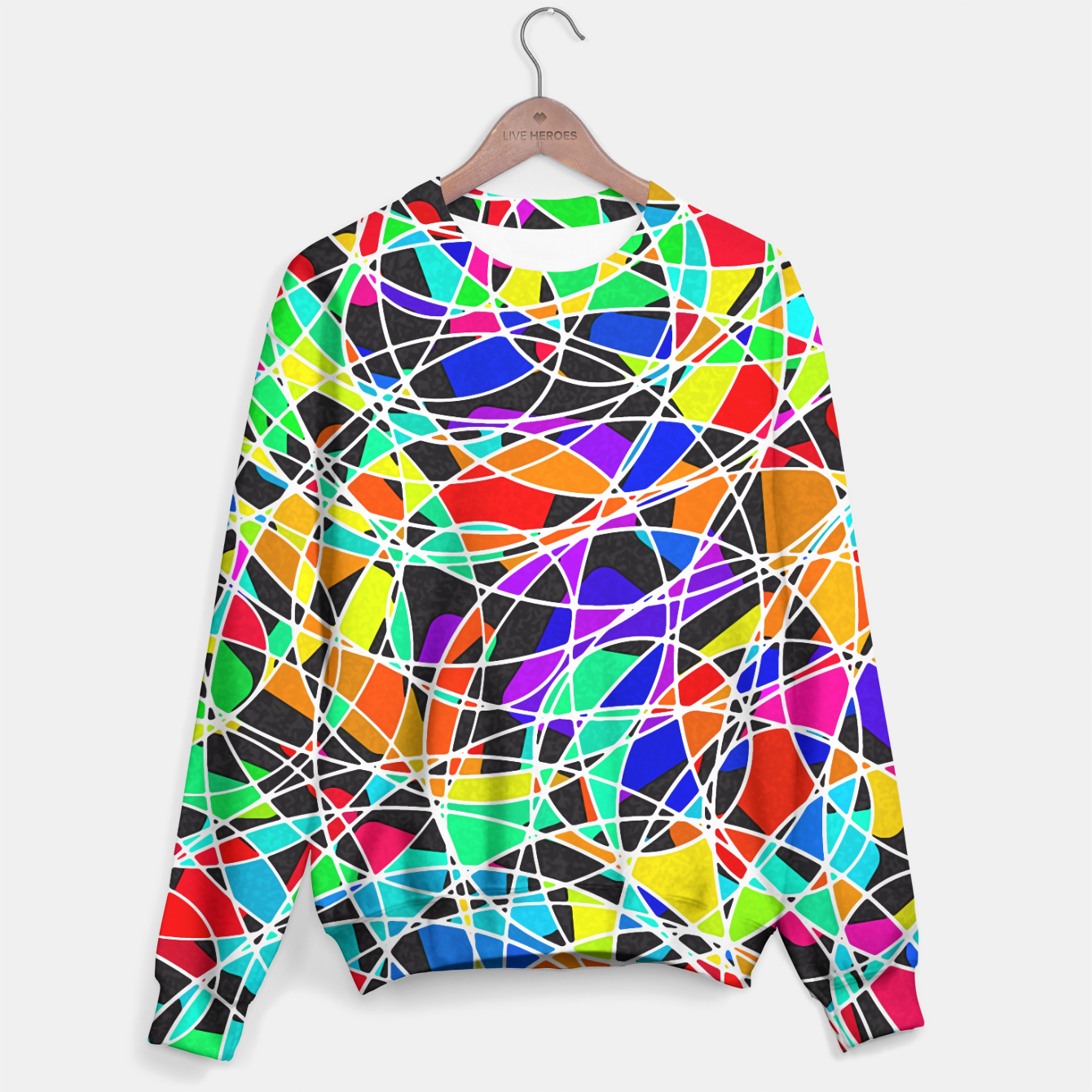 Foto Abstract Art Circle Stained multicolored Sweatshirt - Live Heroes