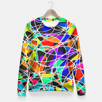Abstract Art Circle Stained multicolored Taillierte Sweatshirt Bild der Miniatur