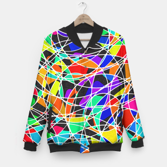 Miniatur Abstract Art Circle Stained multicolored College-Jacke, Live Heroes