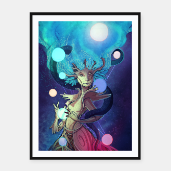 Thumbnail image of Yggdrasil Framed poster, Live Heroes