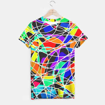 Miniatur Abstract Art Circle Stained multicolored T-Shirt, Live Heroes
