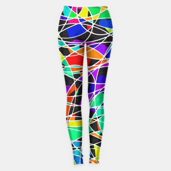 Miniatur Abstract Art Circle Stained multicolored Leggings, Live Heroes