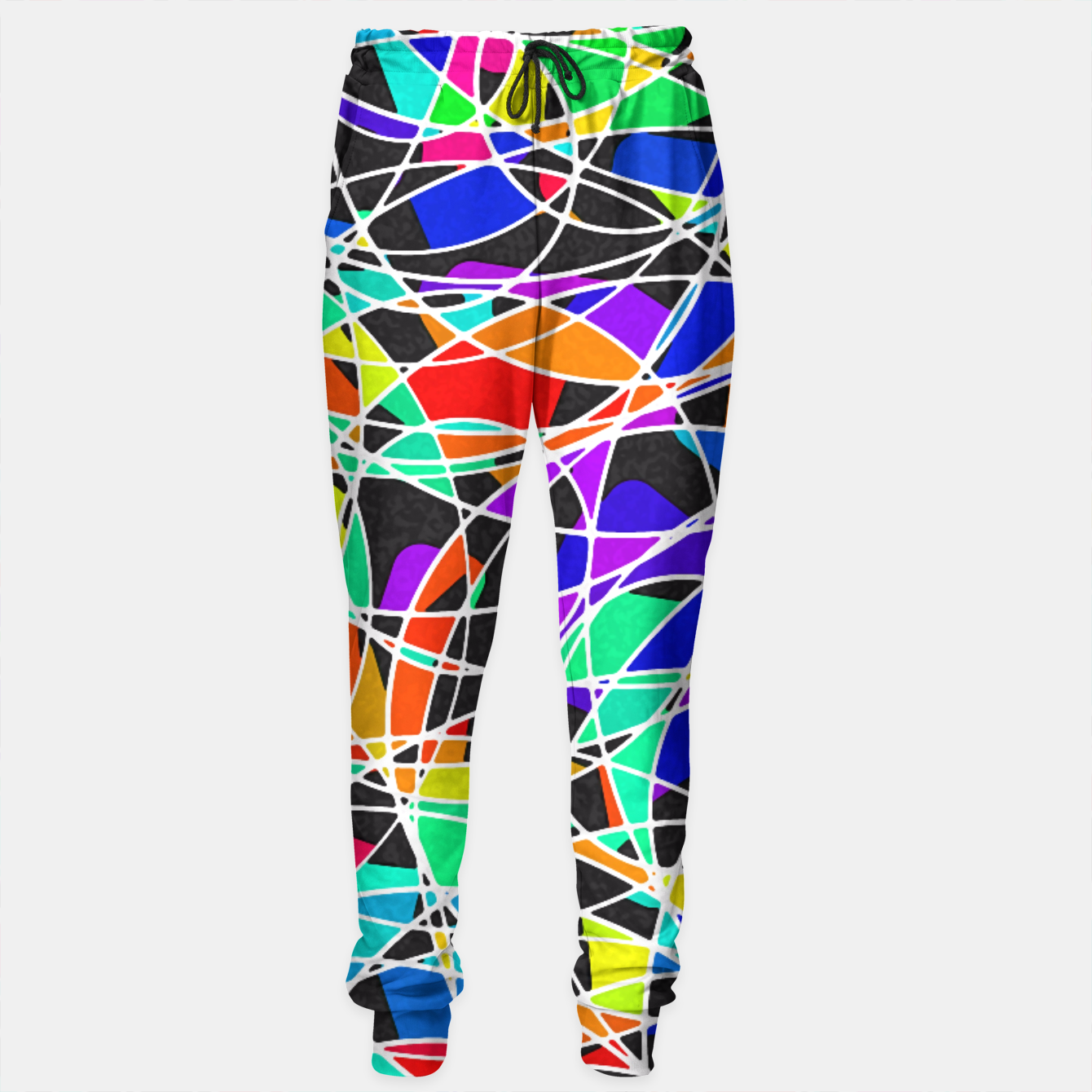 Foto Abstract Art Circle Stained multicolored Trainingshose - Live Heroes