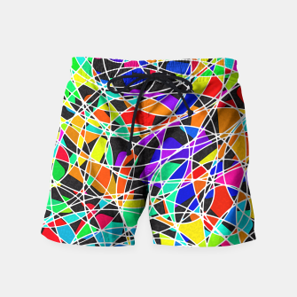 Miniatur Abstract Art Circle Stained multicolored Badeshorts, Live Heroes