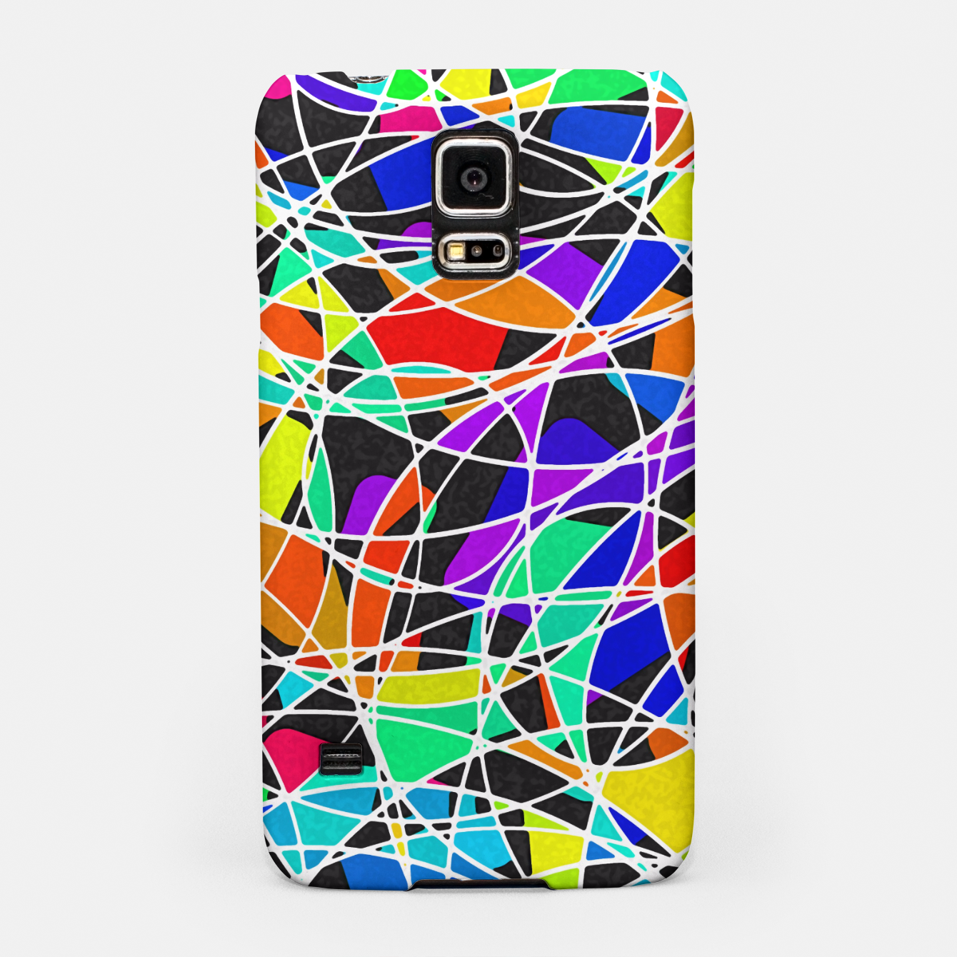 Foto Abstract Art Circle Stained multicolored Handyhülle für Samsung - Live Heroes