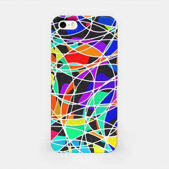 Miniatur Abstract Art Circle Stained multicolored iPhone-Hülle, Live Heroes