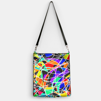 Miniatur Abstract Art Circle Stained multicolored Handtasche, Live Heroes