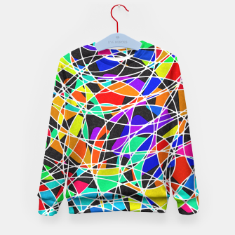 Abstract Art Circle Stained multicolored Kindersweatshirt Bild der Miniatur