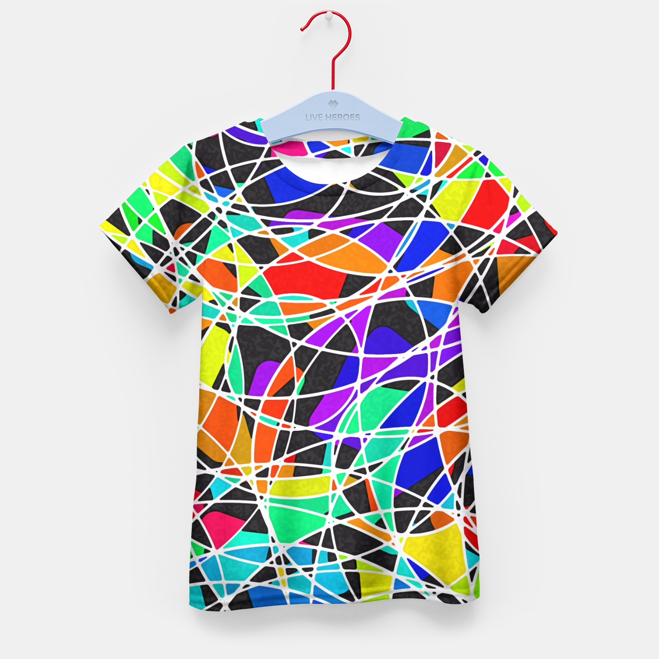 Foto Abstract Art Circle Stained multicolored T-Shirt für Kinder - Live Heroes