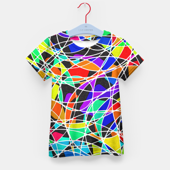 Miniatur Abstract Art Circle Stained multicolored T-Shirt für Kinder, Live Heroes