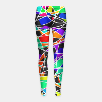 Miniatur Abstract Art Circle Stained multicolored Kinder-Leggins, Live Heroes