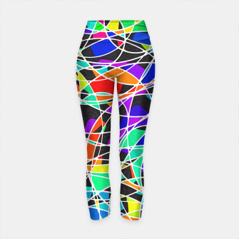 Miniatur Abstract Art Circle Stained multicolored Yogahose, Live Heroes
